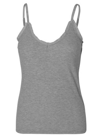 SOLID TAYLOR TOP - GREY MELANGE