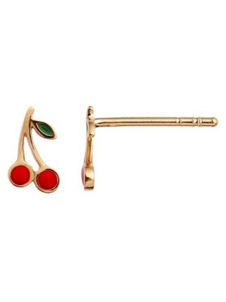 PETIT CHERRY EARRING GOLD ENAMEL - 1162-02