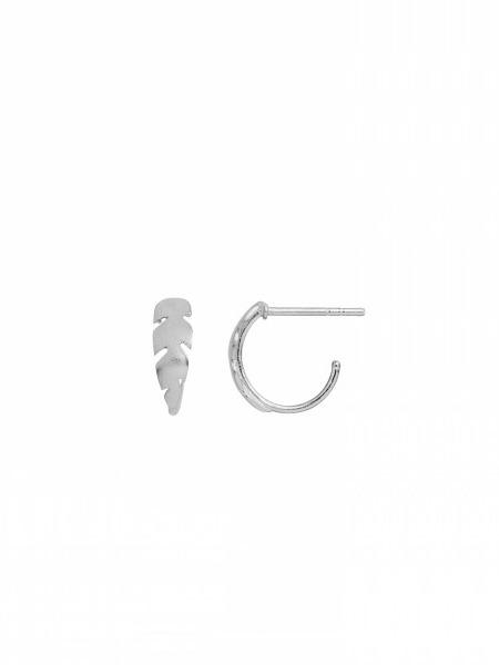1060-00 - PETIT CREOL WITH FEATHER SINGLE - SILVER