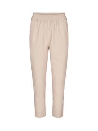 Shiloh Crop Leather Pant, Marzipan