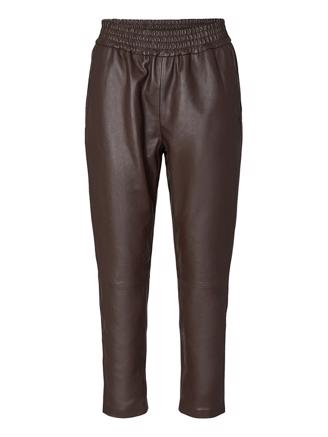 Shiloh Crop Leather Pant, Mocca
