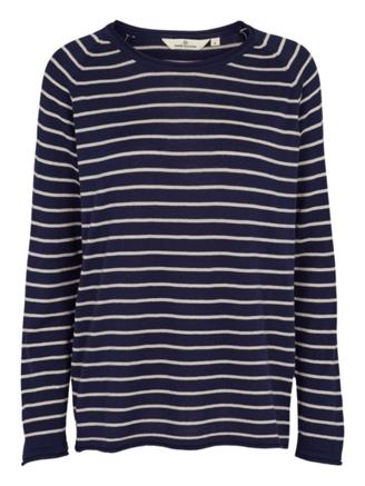 SOYA SWEATER STRIPE - NAVY/SAND