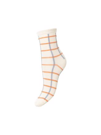 Square Rainbird Sock, Cloud Dancer