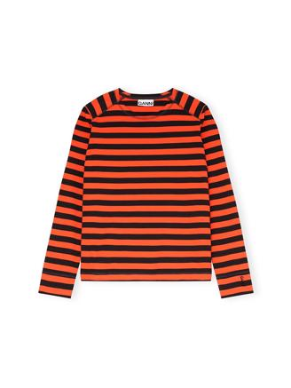 T2714 Pullover Striped Cotton Jersey, Flame