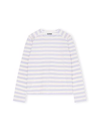 T2714 Pullover Striped Cotton Jersey, Heather