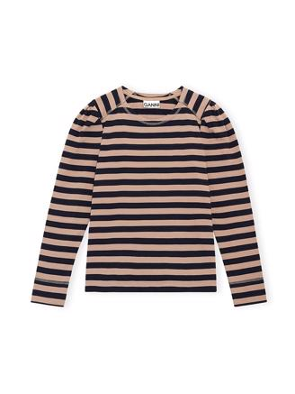 T2776 Puff Sleeve Pullover, Sky Captain