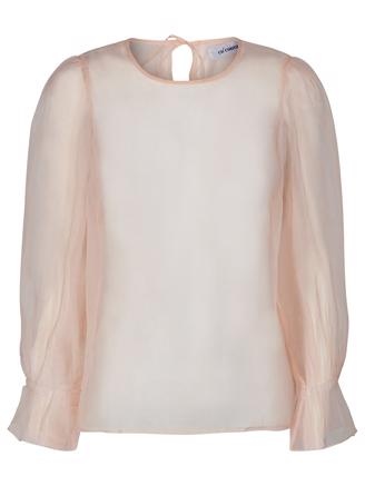 Tobey Organza Blouse - Nude