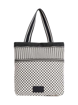 Tote Carmela, Kufiya Off-White Black
