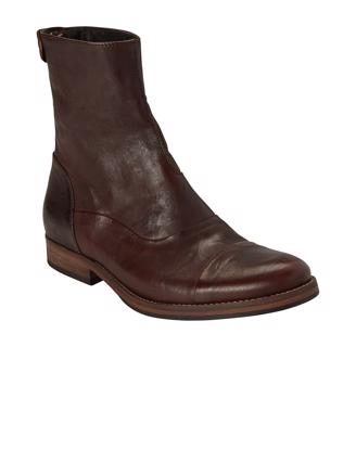 W7316 - DARK BROWN - BACK ZIP BOOT