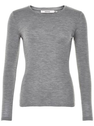 WILMA LS TEE - SO19 - L.GREY MEL.