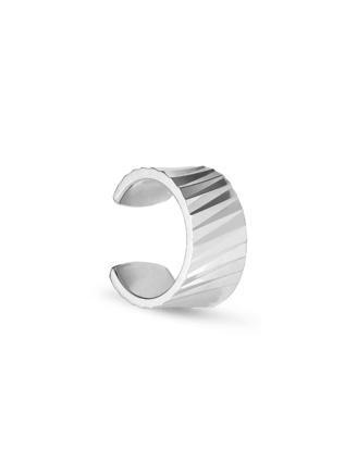 Wide Reflection Cuff - Sølv
