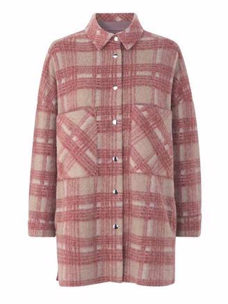 ARON SHIRT JACKET - MINERAL RED