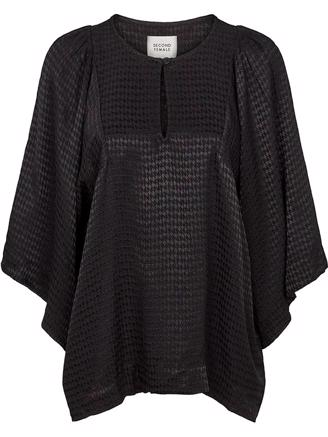 BEATRICE SS BLOUSE - BLACK