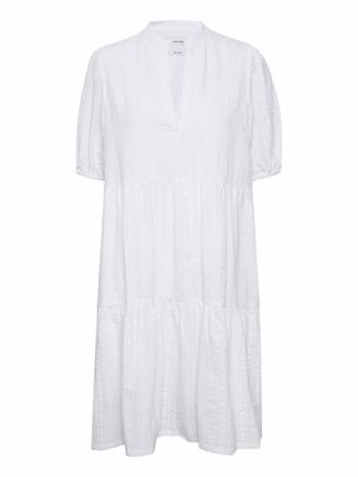 HEVINGZ SHORT DRESS - BRIGHT WHITE