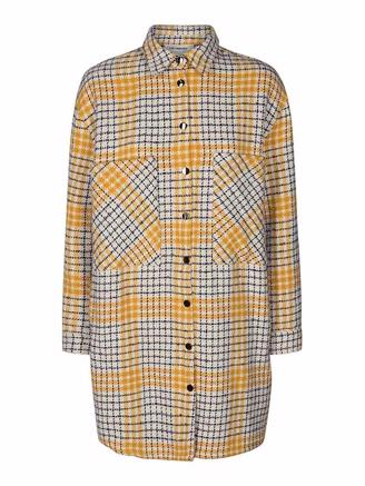NOVERA CHECK SHIRT JACKET - OFF WHITE