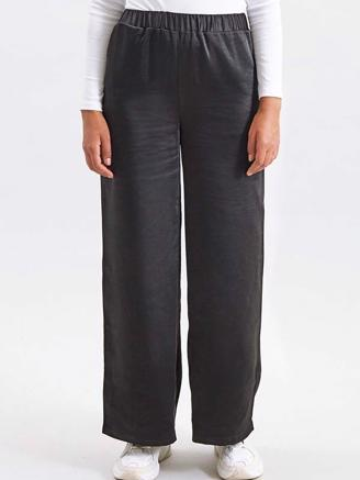 BELL TROUSERS - BLACK SATIN
