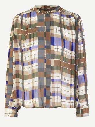 ELMY SHIRT AOP - PATCHWORK CHECK