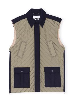F4115 OVERSIZED VEST - SKY CAPTAIN