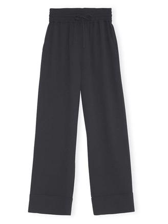 F4253 WIDE PANTS - BLACK