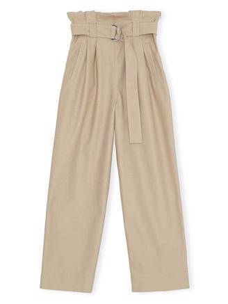 F4351 BELT PANTS - TANNIN