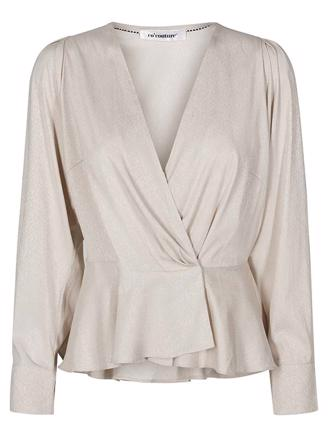 JUSTIN WRAP BLOUSE - BONE