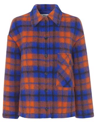 CHECKY WOOL CABSY - BLUE/ORANGE