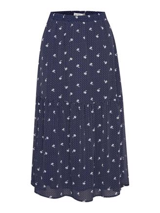 KAILAGZ SKIRT - NAVY FLOWER DOT