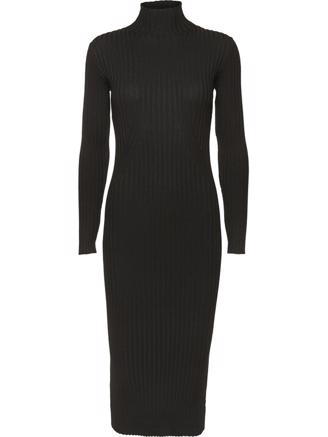 KARLINA KNIT DRESS - BLACK