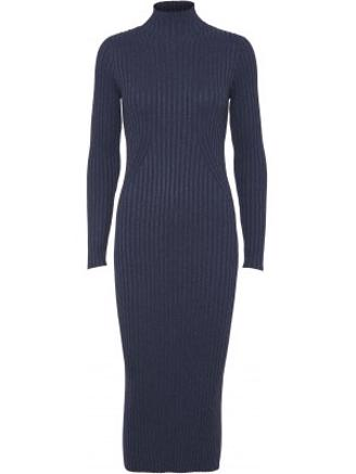 KARLINA KNIT DRESS - BLUE MELANGE