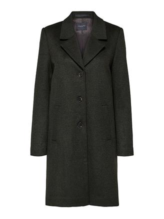 SLFSASJA WOOL COAT B - ROSIN