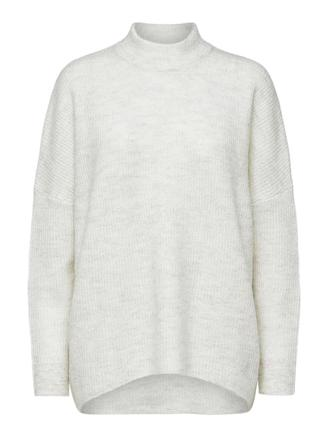 SLFENICA LS KNIT O-NECK - BIRCH/MEL