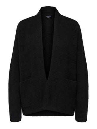 SLFKYLIE LS KNIT CARDIGAN - BLACK