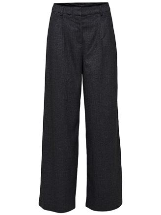 SLFNELLIE HW WIDE PANT - DARK GREY