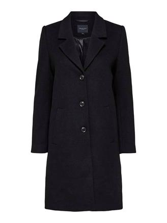 SLFSASJA WOOL COAT B - BLACK