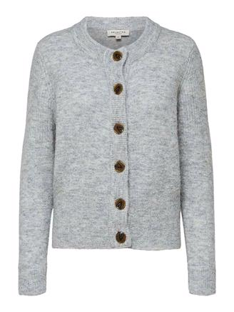 SLFSIA KNIT CARDIGAN - LIGHT GREY M