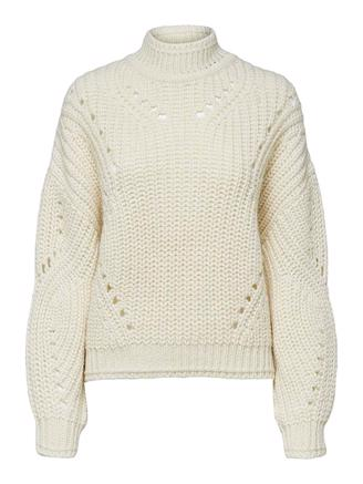 SLFTULA LS CROPPED KNIT - BIRCH