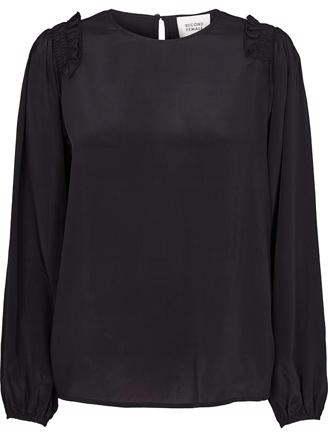 SINA LS BLOUSE - BLACK