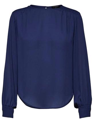 SLFASHA LS TOP - MEDIVAL BLUE