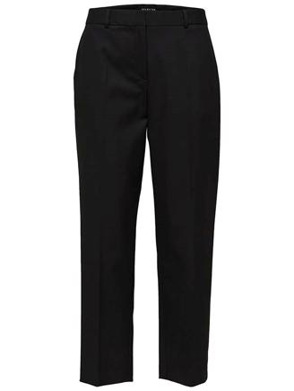 SLFEMILO MW CROPPED PANT NOOS - BLACK