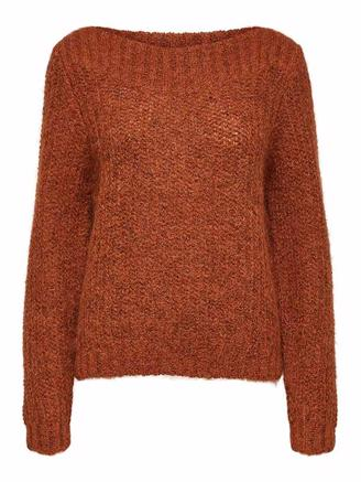 SLFHEMA LS KNIT - GINGER BREAD