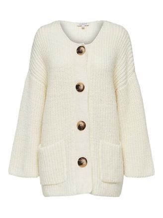 SLFMILLE KNIT CARDIGAN - SNOW WHITE