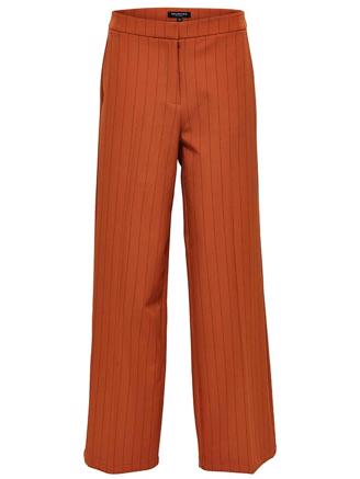 SLFTINNI MW WIDE PANT - GINGER BREAD PIN