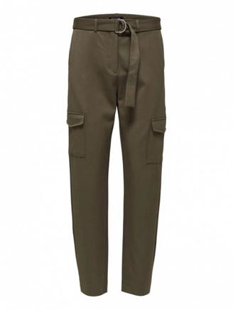 SLFWILMA HW PANT - OLIVE NIGHT
